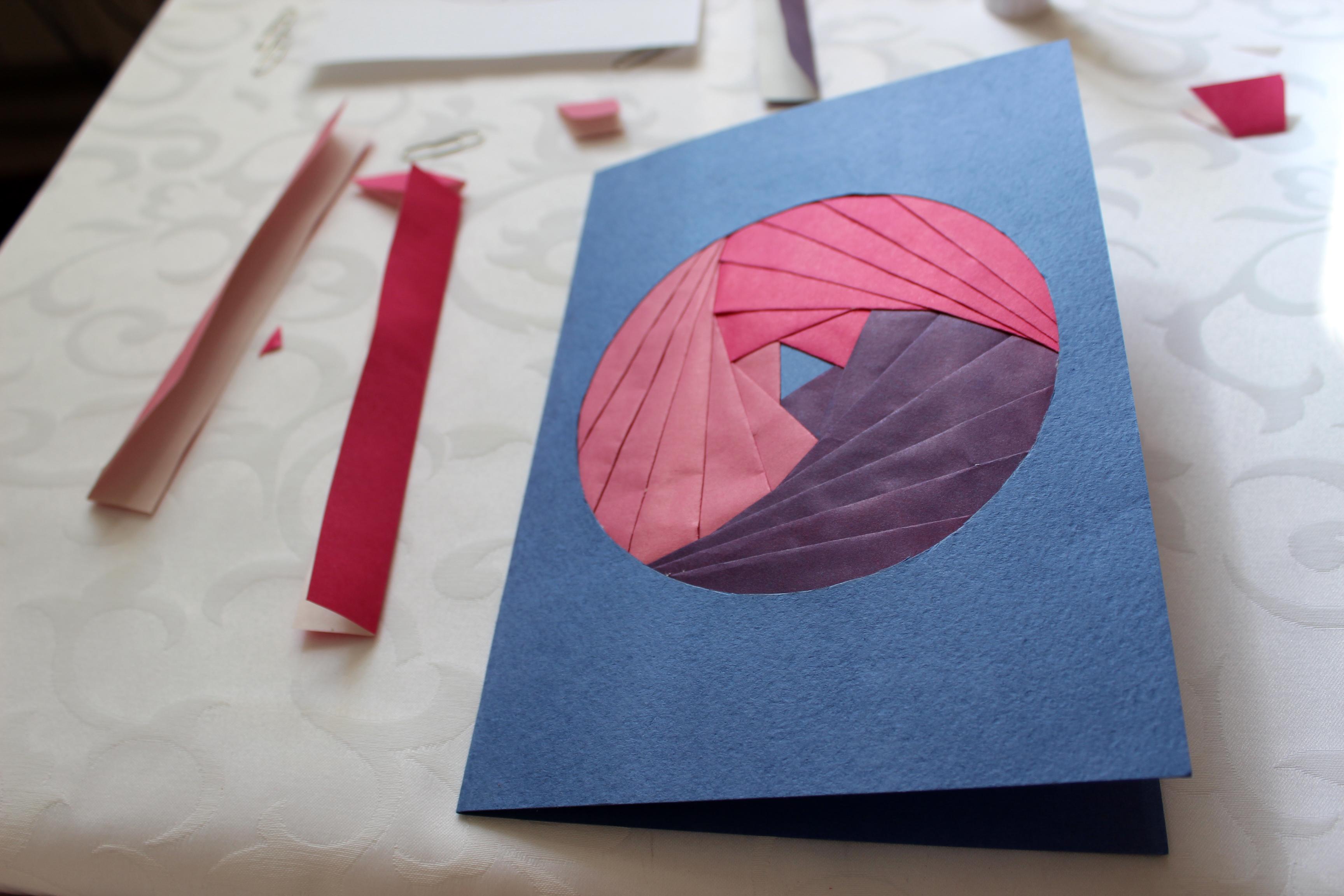 радужное складывание открытки годы